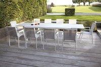 Jati & Kebon verlengbare tuintafel Livorno lichtgrijs/wit 220 x 106 cm-Afbeelding 3