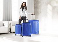 Travelite Valise rigide Colosso Spinner bleu 55 cm-Image 1