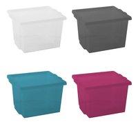 Iris Boîte de rangement aqua/pink/grey - 4 pièces