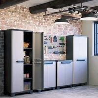 Kis Armoire en matière synthétique Linear High Cabinet gris clair/noir/bleu-Image 2