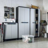 Kis Armoire en matière synthétique Linear High Cabinet gris clair/noir/bleu-Image 3