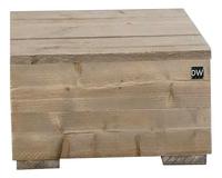 Dutchwood bijzettafel bruin 80 x 80 cm-Vooraanzicht