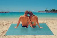 Tapis de plage anti-sable bleu-Image 1
