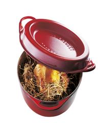 Le Creuset cocotte ronde Doufeu rouge cerise 24 cm - 4,1 l-Image 3