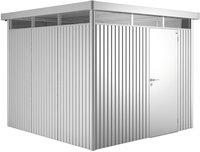 Biohort tuinhuis met enkele deur Highline zilvergrijs 315 x 275 cm-Vooraanzicht