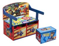 Banc 3 en 1 Pat' Patrouille + coffre à jouets Pat' Patrouille