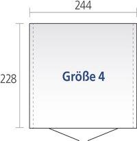 Biohort abri de jardin Europa gris foncé 228 x 244 cm-Détail de l'article