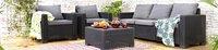 Allibert Ensemble Lounge avec canapé 3 places California gris graphite cool grey-Image 3