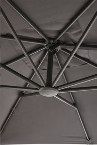 Ocean hangparasol Bahia aluminium 3 x 3 m Charcoal-Artikeldetail