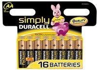 Duracell Simply 16 AA-batterijen Obelix