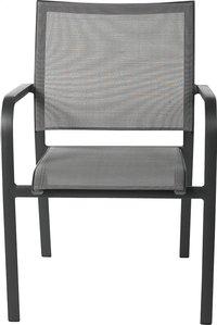 Chaise de jardin Laos gris argenté/anthracite