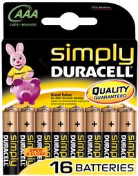 Duracell Simply 16 AAA-batterijen Obelix