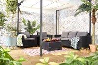 Allibert Ensemble Lounge avec canapé 3 places California gris graphite cool grey-Image 4