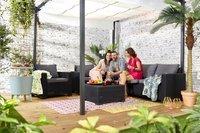 Allibert Ensemble Lounge avec canapé 3 places California gris graphite cool grey-Image 5