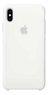 Apple coque en silicone pour iPhone Xs Max blanc-Arrière