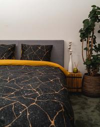 Kayori Dekbedovertrek Koani katoensatijn 140 x 220 cm-commercieel beeld