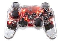 bigben manette sans fil pour PS3 transparent/rouge
