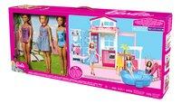 Barbie huis met zwembad en 3 poppen-Rechterzijde