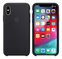Apple cover iPhone Xs silicone zwart-Artikeldetail
