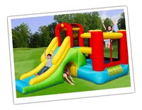 Happy Hop springkasteel Playcenter 7-in-1 -Linkerzijde