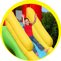 Happy Hop springkasteel Playcenter 7-in-1 -Afbeelding 1