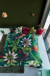 Beddinghouse Dekbedovertrek Passiflore green katoensatijn 140 x 220 cm-Afbeelding 2