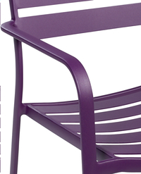 Chaise de jardin Blair mauve-Détail de l'article