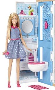 Barbie huis met zwembad en 3 poppen-Afbeelding 3