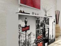 Opbergkast met 4 draaideuren en 2 laden Paris-Afbeelding 1