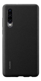 Huawei cover PU voor Huawei P30 zwart-Achteraanzicht
