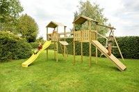 BnB Wood complete schommelset Nieuwpoort met gele glijbaan