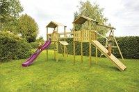 BnB Wood complete schommelset Nieuwpoort met paarse glijbaan