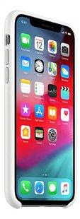 Apple coque en silicone pour iPhone Xs blanc-Côté gauche