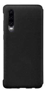 Huawei flipcover met vak voor kaarten voor Huawei P30 zwart-Achteraanzicht