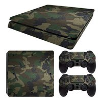 PS4 Slim skins Army Camouflage pour console + 2 skins pour manettes