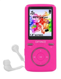 Difrnce mp4-speler MP1805 8 GB roze-Vooraanzicht
