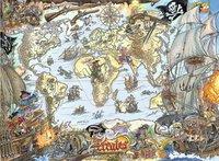 Ravensburger puzzle XXL Carte du monde des pirates-Avant