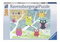 Ravensburger puzzle Hiboux colorés-Avant