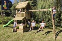 Fox play speeltoren met klimrek Baltimore met appelgroene glijbaan