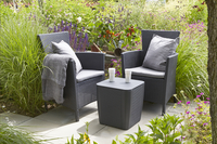 Allibert ensemble de jardin Iowa Graphite-Image 1