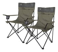 Coleman 2 fauteuils de camping Quad vert