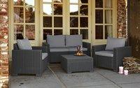 Allibert Ensemble Lounge avec canapé 2 places California gris graphite cool grey-Image 1