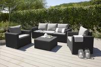 Allibert Ensemble Lounge avec canapé 3 places California gris graphite cool grey-Image 1