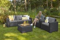 Allibert Ensemble Lounge California Graphite avec canapé 3 places-Image 2