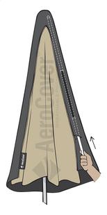 AeroCover Housse de protection pour parasol suspendu polyester 250 x 85 cm-Détail de l'article
