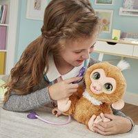 FurReal interactieve knuffel Zandi het zieke aapje-Afbeelding 4