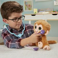 FurReal interactieve knuffel Zandi het zieke aapje-Afbeelding 5