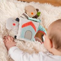 Fehn jouet à suspendre - livre en tissu Loopy & Lotta-Image 1