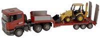 Bruder vrachtwagen Scania met JCB baggerlader-Afbeelding 2