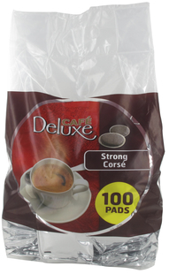 Café Deluxe 100 koffiepads Strong